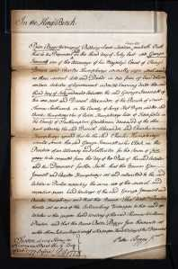 Charles Humphreys Articles of Clerkship 1777