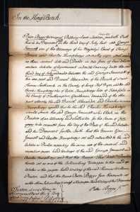 Charles Humphreys Articles of Clerkship 1777